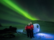 Private aurora bubble in Kilpisjärvi