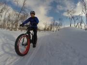 Snowfun with fatbike in Kilpisjärvi