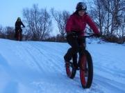 Snowfun with fatbikes in Kilpisjärvi