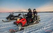 Snowmobiling in Kilpisjärvi