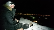 Snowshoe adventure at night in Kilpisjärvi