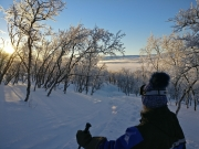 Snowshoeing in the vicinity of Saana